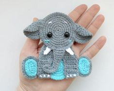 PATTERN Elephant Applique Crochet Pattern PDF Jungle Animal Pattern Safari Anima - Real Time - Diet, Exercise, Fitness, Finance You for Healthy articles ideas Elephant Applique, Crochet Elephant, Baby Elephant, Elephant Blanket, Crochet Lion, Elephant Head, Crochet Animals, Crochet Toys, Crochet Phone Cases