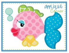 Fish Fan-tail Applique Design,beach towel