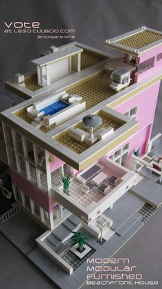 Please vote for this #Lego #Modern #Modular #Beachfront #House on Lego Cuusoo http://lego.cuusoo.com/ideas/view/37875