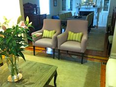 Oscar armchairs - room designed by Candlewick Interior designers - Melbourne
