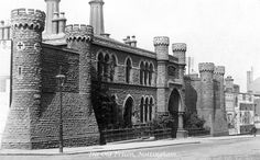 The old Nottingham prison on St John's Street (now called Lower Parliament Street). It was located at the east corner of Glasshouse Street and King Edward Street. Old Images, Old Photos, Prison Inmates, Nottingham City, Good Old Times, History Photos, Old Ads, Through The Looking Glass, Travel Inspiration