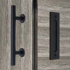 Closet Door Handles, Barn Door Handles, Black French Doors, Black Doors, Loft Boards, Slider Door, Black Barn, Industrial Door, Sliding Closet Doors