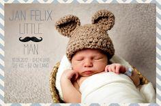 Babyfotografie: Geburtskarten von Babyfotosession | Fotograf Alsfeld & Porträt Fotostudio Fulda, Gießen, Marburg Retro Baby, Little Man, Birth, Crochet Hats, Kids, Photography, Cards, Welcome Baby, Fulda