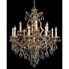 Crystorama Maria Theresa 13-light Antique Brass Chandelier - Overstock™ Shopping - Great Deals on Chandeliers & Pendants 966$