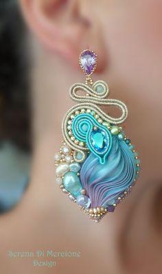 Shibori silk, soutache. Designed by Serena Di Mercione: