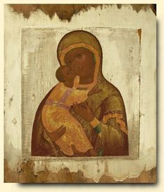 Virgin of Vladimir - exhibited at the Temple Gallery, specialists in Russian icons
