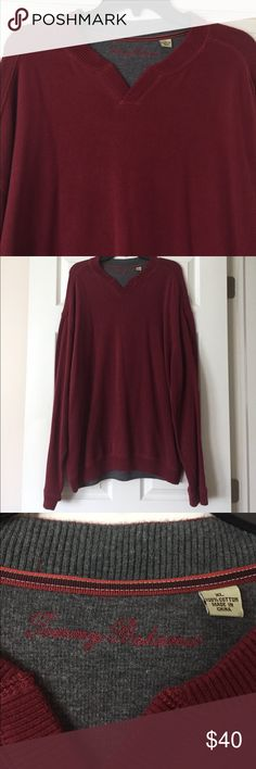 """Tommy Bahama Sweater Maroon Tommy Bahama Pullover. 100% Cotton, Size XL. Length from one shoulder down is approximately 31"""". Tommy Bahama Sweaters"""
