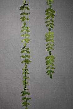 cascading felt fern leaves by margo