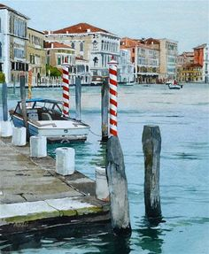 """The Grand Canal"" - Original Fine Art for Sale - © David Morris"