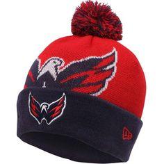 c51e8ab2456 Mens Washington Capitals New Era Red Woven Biggie 2 Knit Hat
