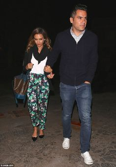Jessica Alba and Cash Warren left the kids at home for a sushi date at Matsuhisa in Beverly Hills June 2, 2014