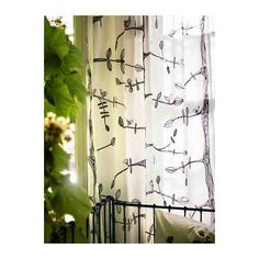 Eivor curtains with branches and birds Ikea