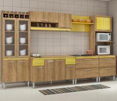 Uma cozinha moderna e com grande espaço interno, é perfeita para organização e decoração do ambiente, né?! ;)     #decoração #design #madeiramadeira