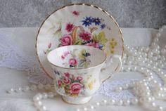 ROYAL ALBERT / Bone China Vintage Tea Cup and by HoneyandBumble, $21.00