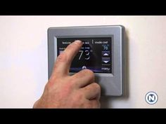 Carrier Infinity WiFi Thermostat - Setting the Time and Date (2 of 7) | #hvac #summer #hot #DIY
