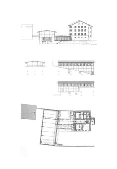 Extension school building in Tschlin by Bearth & Deplazes - Atlas of Places Das Hotel, School Building, Extensions, Floor Plans, Architecture, Places, I Like You, Old School House, Wooden Pavilion
