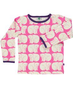 Småfolk leuke roze t-shirt met ijsberen voor juniors. smafolk.nl.emilea.be