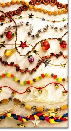 How To Make and Hang Garland For Your Christmas Tree or Mantel--some cool ideas for homemade