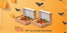 Order now and get flat 10% discount on your custom food boxes. book your order at 888-851-0765 or get a free custom quote. Beverage Packaging, Box Packaging, Custom Packaging, Custom Boxes, Recipe Box, Food Print, Beverages, Quote, Flat