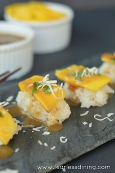 Mango Shashimi   http://www.fearlessdining.com  #mango #farmfreshtoyou #glutenfree
