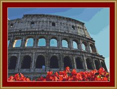 Colosseum Cross Stitch Pattern by Avalon Cross Stitch on Etsy