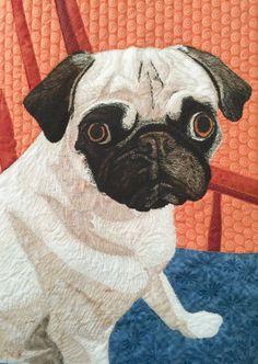 Your pet photo to art quilt, part 4