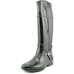 Michael Kors Womens Fulton Harness Hunter Green Rubber Rain Boots 8 BM *** Check this awesome product by going to the link at the image.(This is an Amazon affiliate link)