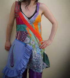 wild patchwork dress by Highland Fairy