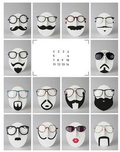 11b1f0691cd8 Mr. Musta - Mustache Eyeglasses Holder Mustache Crafts