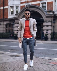 Trendy Shoes Casual For Men Style 2019 44 Men With Street Style, Men Street, Stylish Men, Men Casual, Smart Casual, Mantel Outfit, Glam Look, London Fashion Week Mens, Style Masculin
