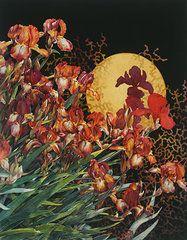 Iris Paintings - Mystic Iris  by Cheryl Wooten