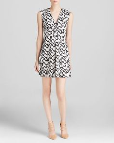 French Connection Dress - Downtown Grid Cotton
