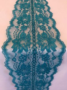 Teal LaceTable Runner 6ft Wedding Table by LovelyLaceDesigns, $11.50