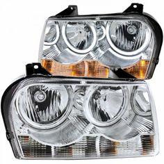 Anzo 121137   2006 Chrysler 300 Chrome/Clear CCFL Halo Crystal Headlights for Sedan