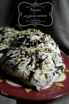 tsoureki me kastano Chestnut Cream, Greek Easter, Greek Dishes, Sweet Dreams, Ice Cream, Sweets, Bread, Cooking, Breakfast