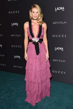 Rosie Huntington-Whiteley In Gucci at the LACMA Gala
