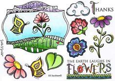 Stamp Set 463 - Zendoodle Flowers