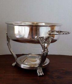 VTG Chafing Dish English Silver Leonard Silver Mfg Company Ornate Claw Baroque