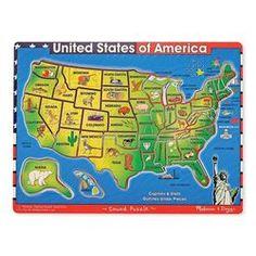 Melissa & Doug Toys - U.S.A. Map Sound Puzzle