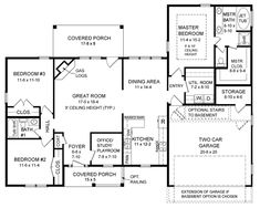 Ranch Traditional House Plan 59065