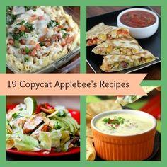 19 Copycat Applebee's Recipes! All your favorite recipes from the Applebee's menu.