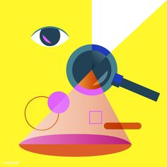 Illustration of searching magnifying glass | free image by rawpixel.com