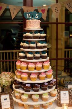 I love this idea!! Morgan Gallo Events Cupcake Tower