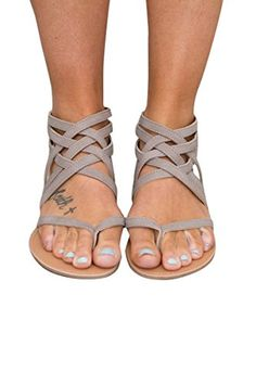 607403aa25bf3 Huiyuzhi Womens Flip Flop Gladiator Flat Sandal Fisherman Sandal... Keep  your look up