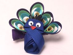 would be so cute as a hair clip for the colorful person in your life