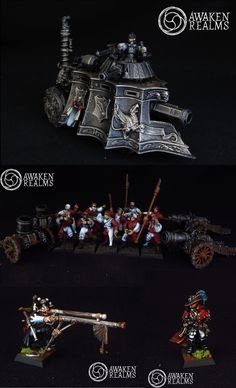 Warhammer Empire Steam Tank / Mortars / Cannons / Engineer / Witch Hunter