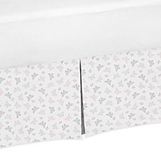 image of Sweet Jojo Designs Alexa Mini Butterfly Print Crib Skirt