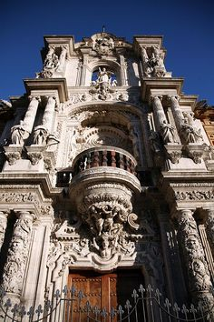 The Palace of San Telmo, Sevilla, Spain Architecture Antique, Beautiful Architecture, Beautiful Buildings, Places To See, Places To Travel, Beautiful World, Beautiful Places, Seville Spain, Andalusia Spain