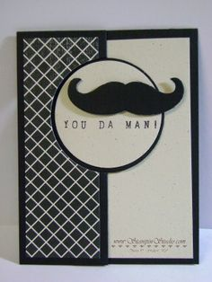 You Da Man is stamped using the new Alphabet Rotary stamp andthe Mustache Framelit Masculine Birthday Cards, Birthday Cards For Men, Man Birthday, Masculine Cards, Boy Cards, Flip Cards, Cute Cards, Card Tags, I Card