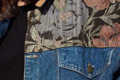 Pamplemousse Vintage Clothes - Patchwork Jeans Jacket